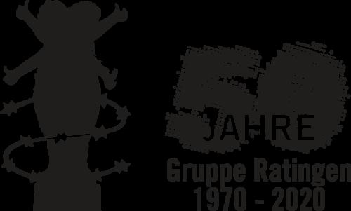 Logo 50 Jahre Amnesty Gruppe Ratingen